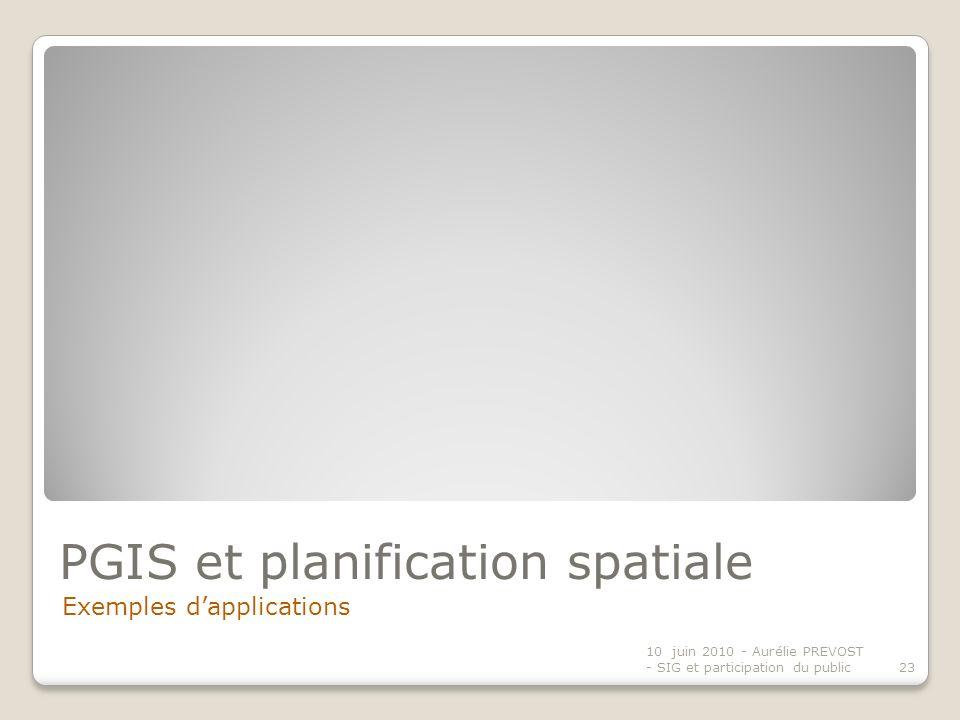 PGIS et planification spatiale
