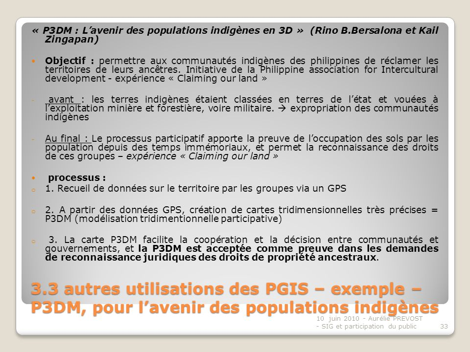 « P3DM : L'avenir des populations indigènes en 3D » (Rino B