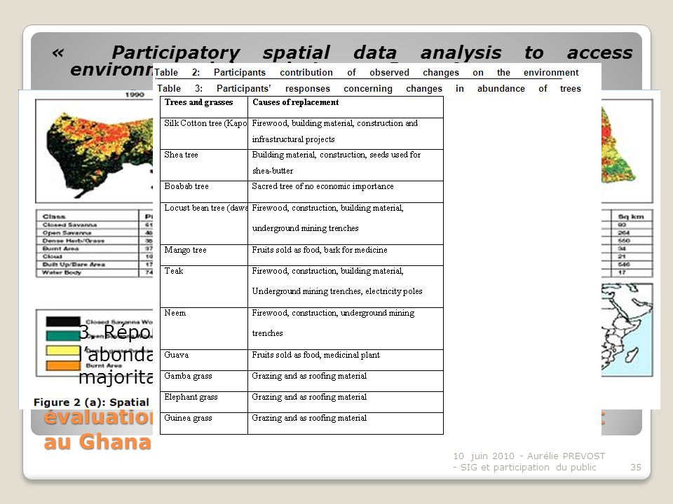 « Participatory spatial data analysis to access environmental degradation » – Isaac Agyemang