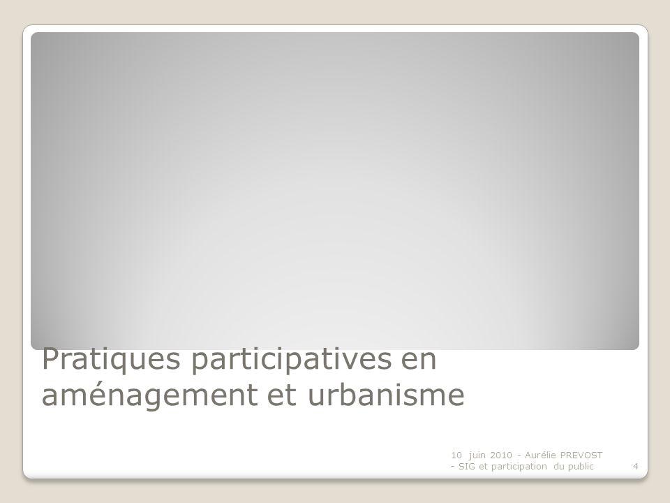 Pratiques participatives en aménagement et urbanisme