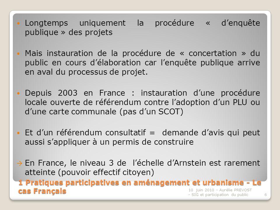 Longtemps uniquement la procédure « d'enquête publique » des projets