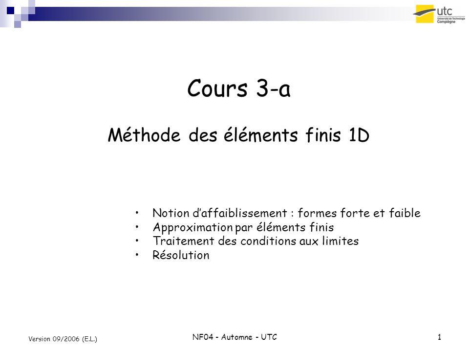 Cours 3-a Méthode des éléments finis 1D