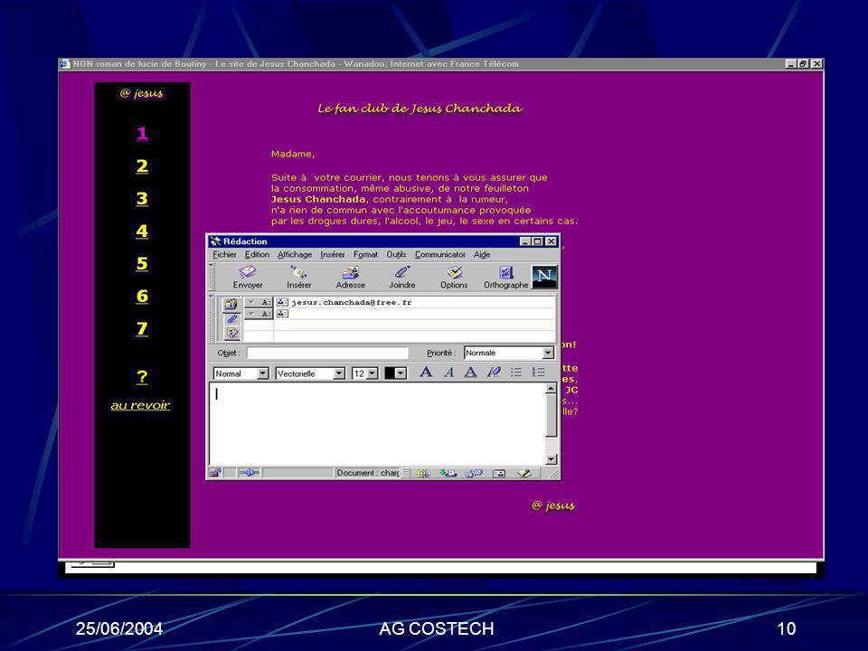 Ex du récit interactif 25/06/2004 AG COSTECH