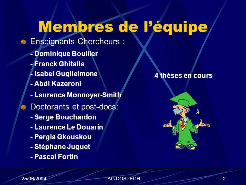 Membres de l'équipe Enseignants-Chercheurs : - Dominique Boullier
