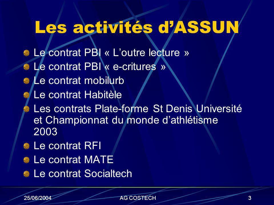 Les activités d'ASSUN Le contrat PBI « L'outre lecture »