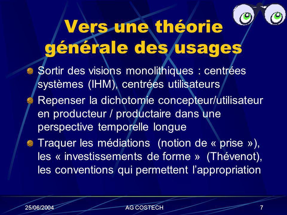 Vers une théorie générale des usages