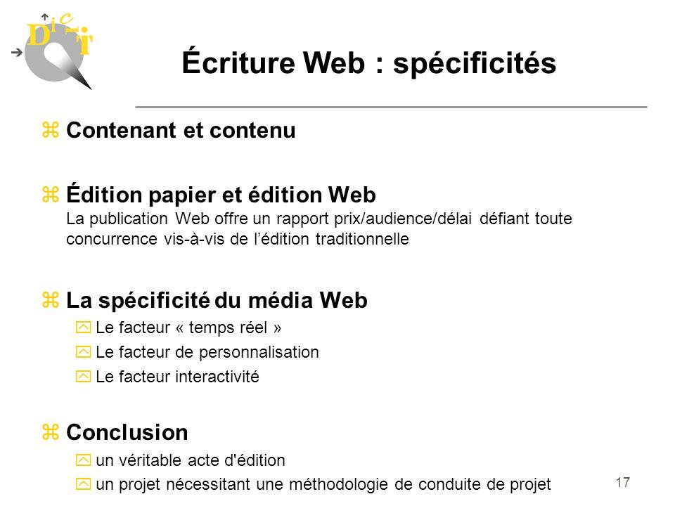Écriture Web : spécificités