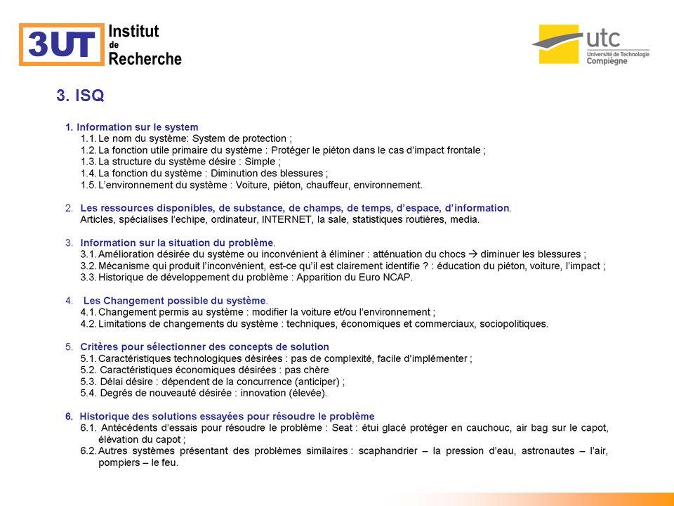 3U T Institut de Recherche 3. ISQ