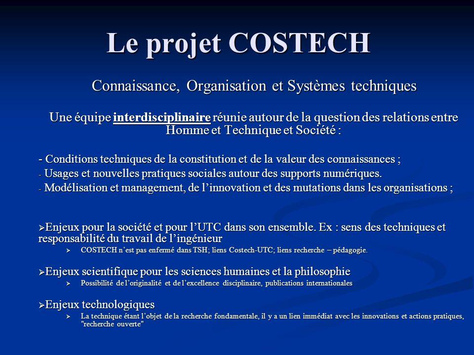 Connaissance, Organisation et Systèmes techniques