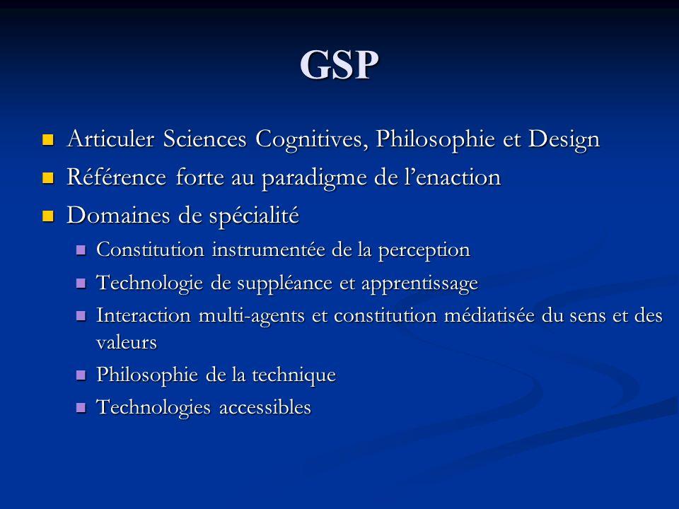 GSP Articuler Sciences Cognitives, Philosophie et Design
