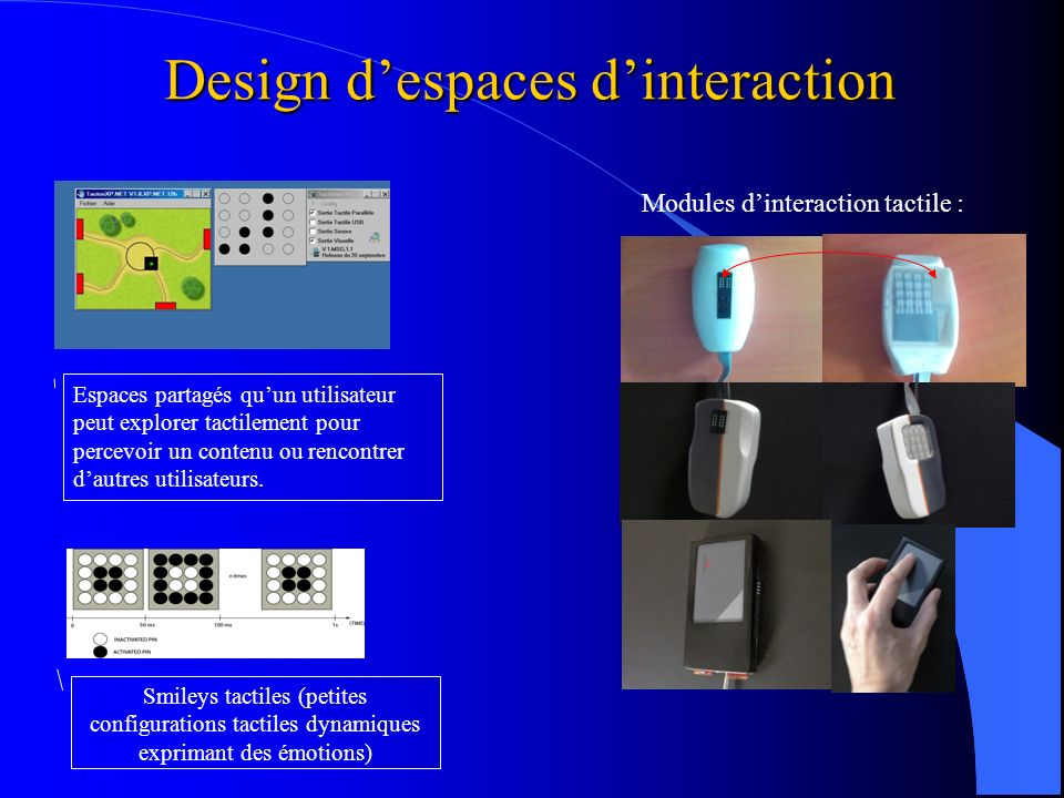 Design d'espaces d'interaction