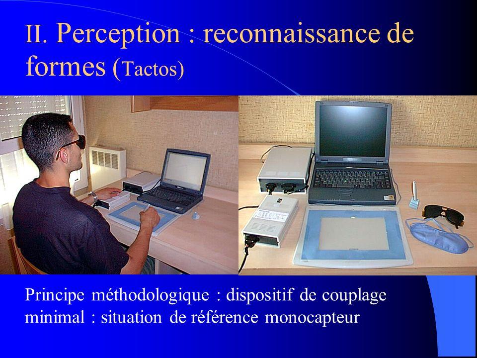 II. Perception : reconnaissance de formes (Tactos)
