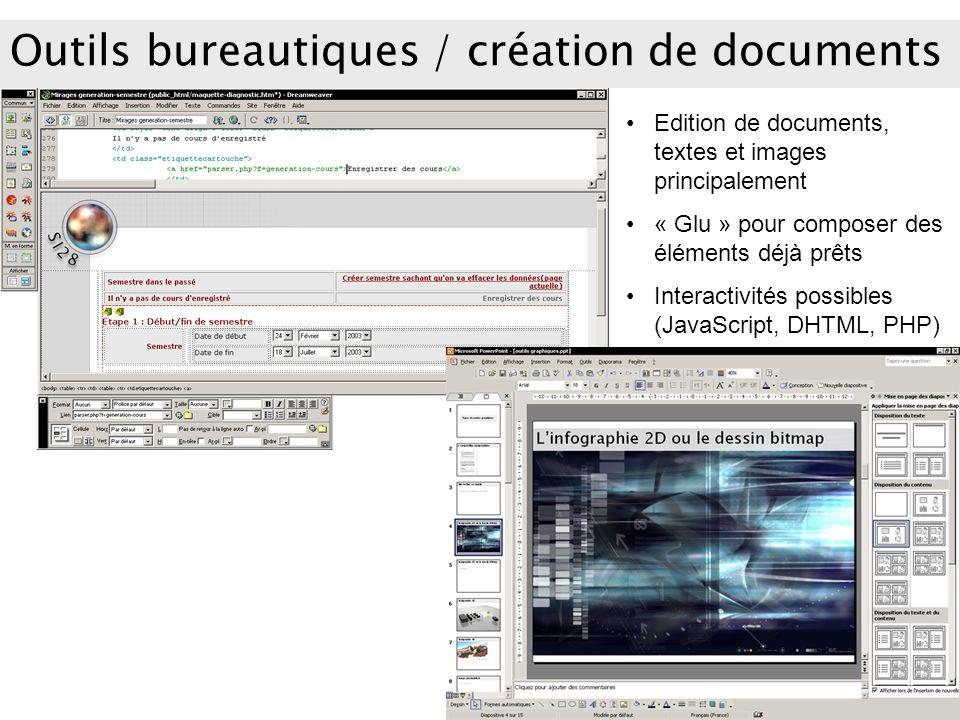 Outils bureautiques / création de documents