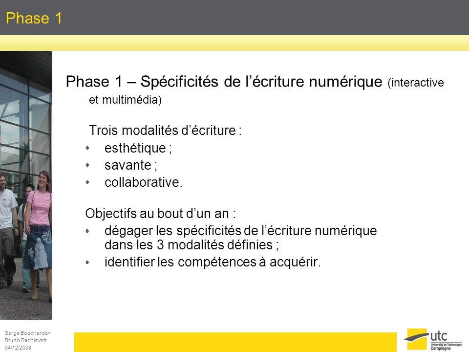 Phase 1 Phase 1 – Spécificités de l'écriture numérique (interactive et multimédia) Trois modalités d'écriture :