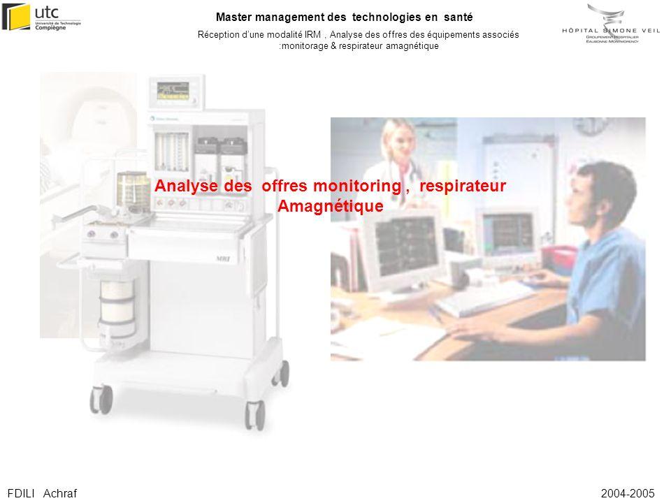 Analyse des offres monitoring , respirateur Amagnétique