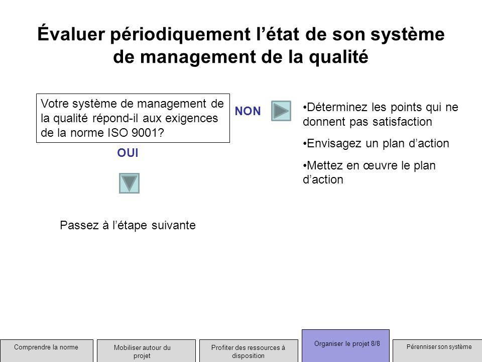 Évaluer périodiquement l'état de son système de management de la qualité