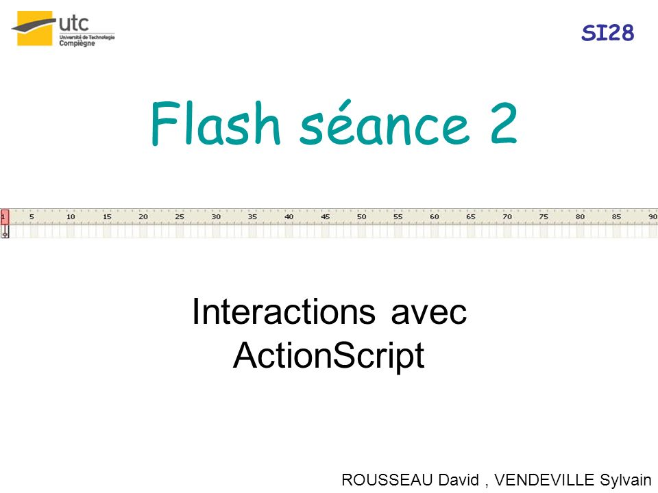 Interactions avec ActionScript