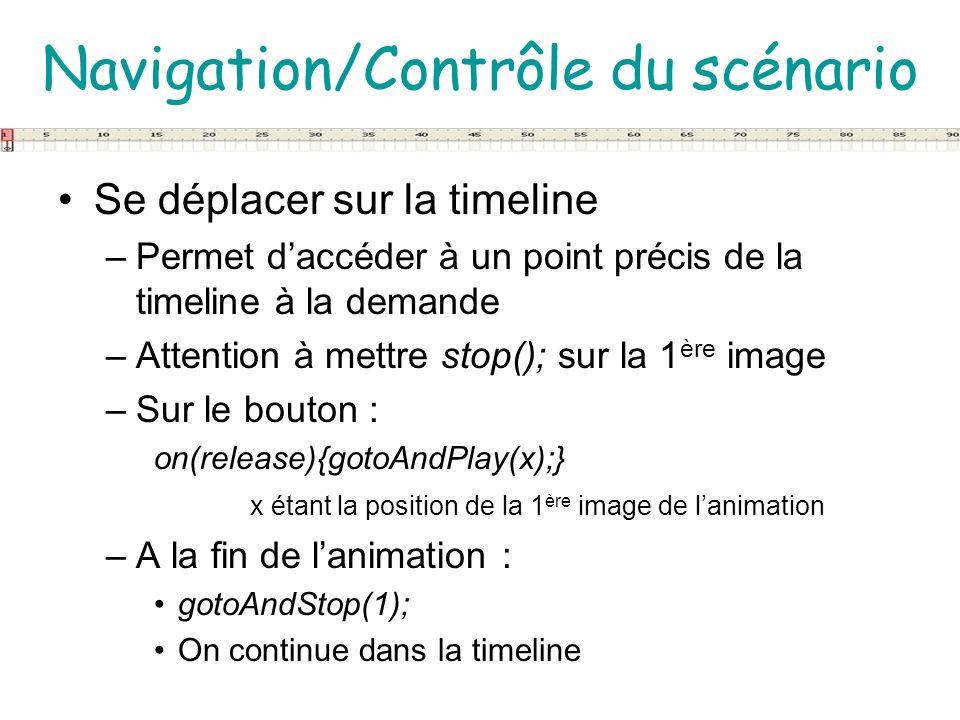 Navigation/Contrôle du scénario