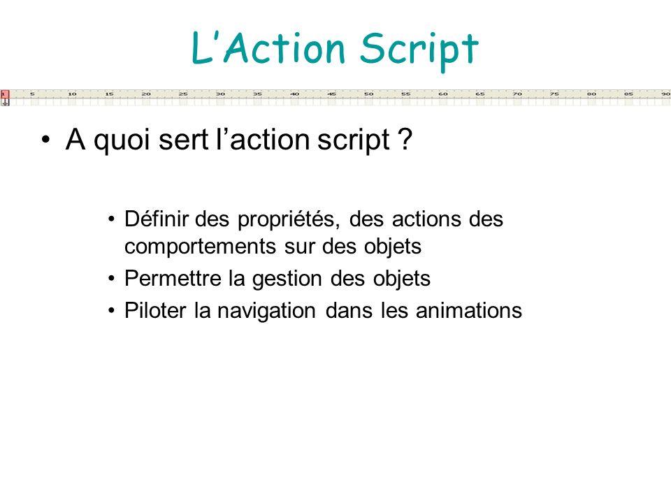 L'Action Script A quoi sert l'action script
