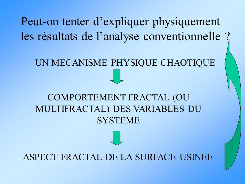 COMPORTEMENT FRACTAL (OU MULTIFRACTAL) DES VARIABLES DU SYSTEME