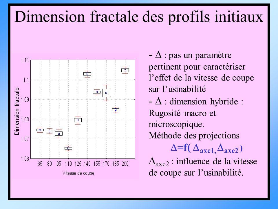 Dimension fractale des profils initiaux