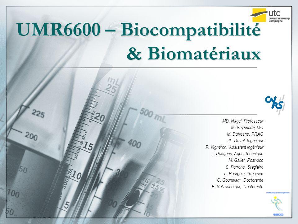 UMR6600 – Biocompatibilité & Biomatériaux