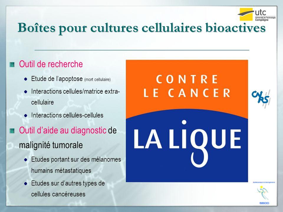Boîtes pour cultures cellulaires bioactives