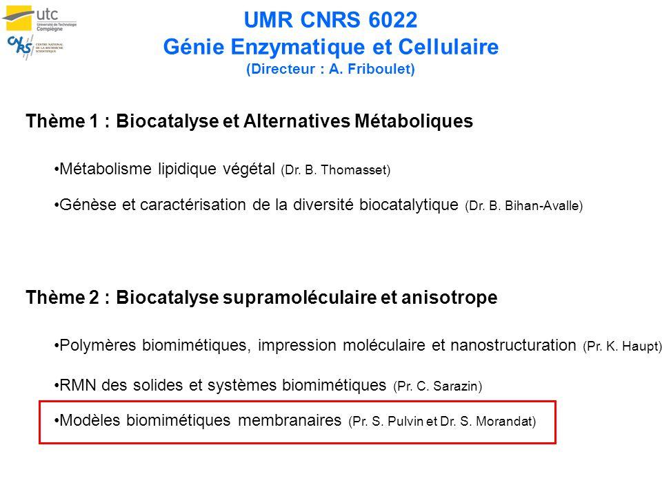 UMR CNRS 6022 Génie Enzymatique et Cellulaire (Directeur : A