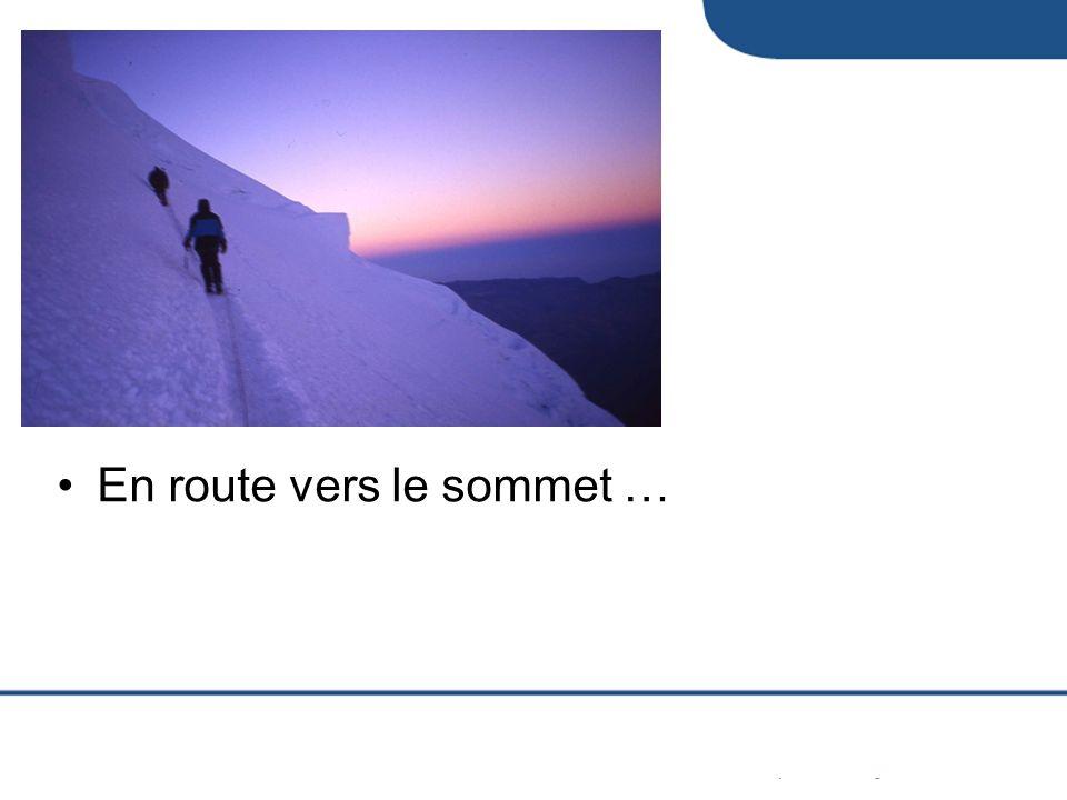 En route vers le sommet …