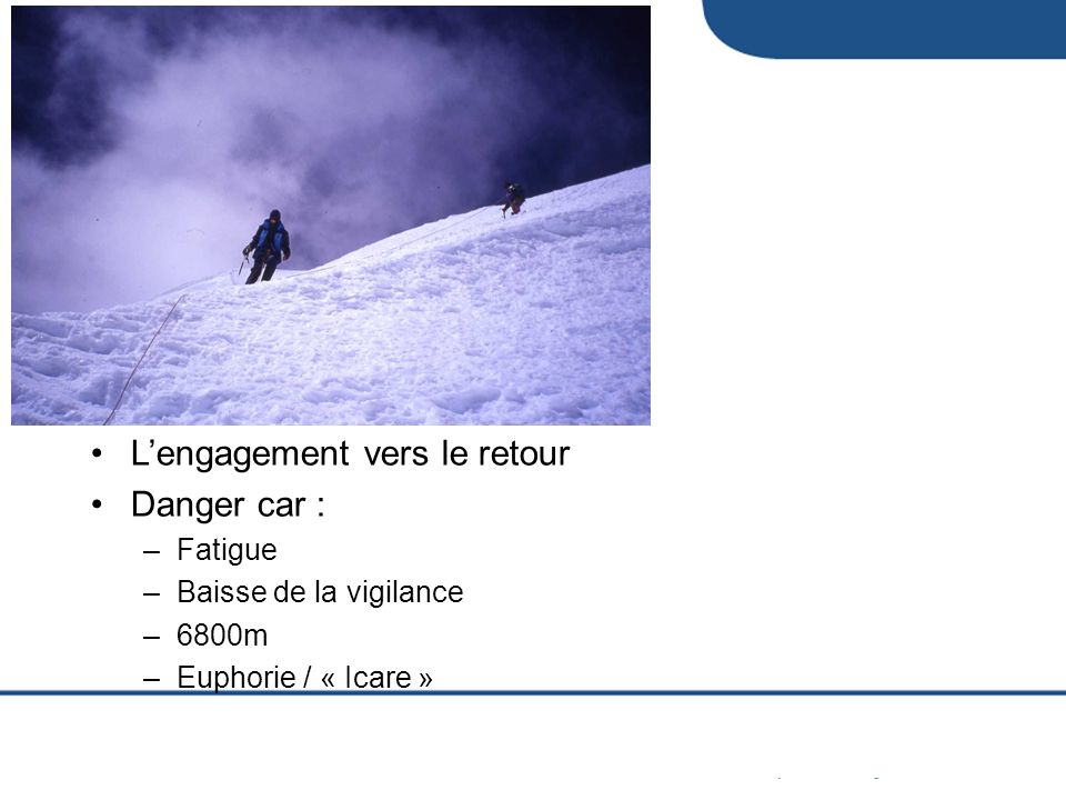 L'engagement vers le retour Danger car :