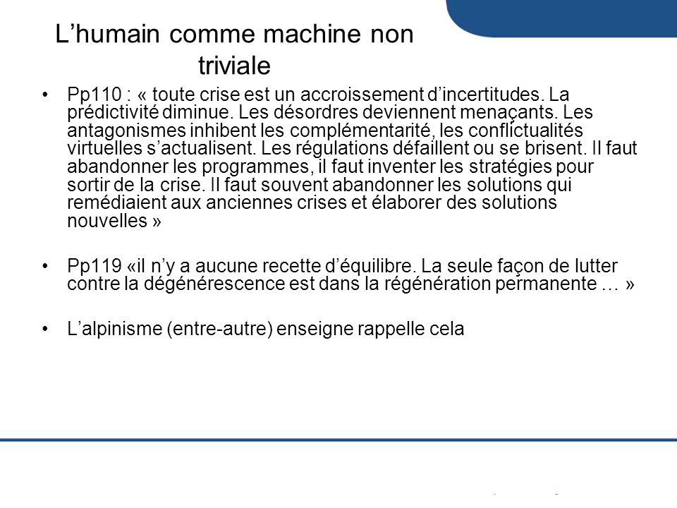 L'humain comme machine non triviale