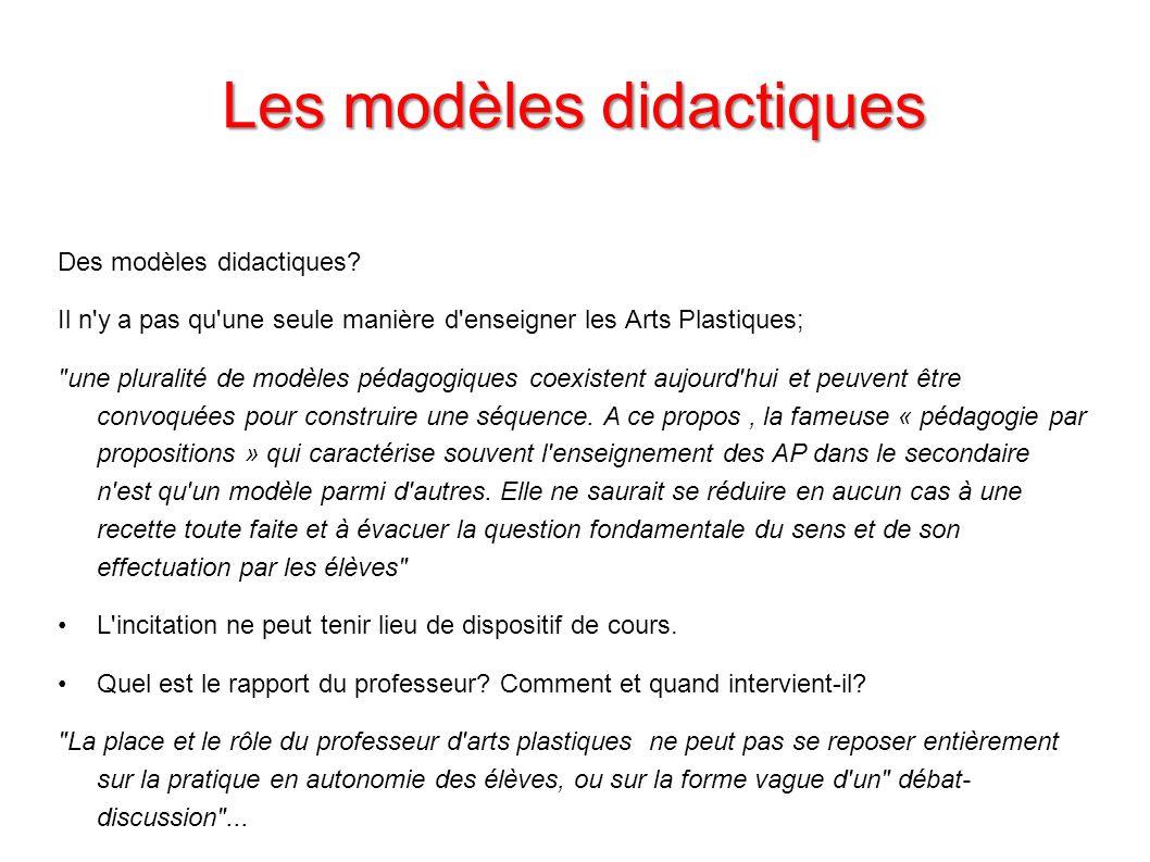Les modèles didactiques