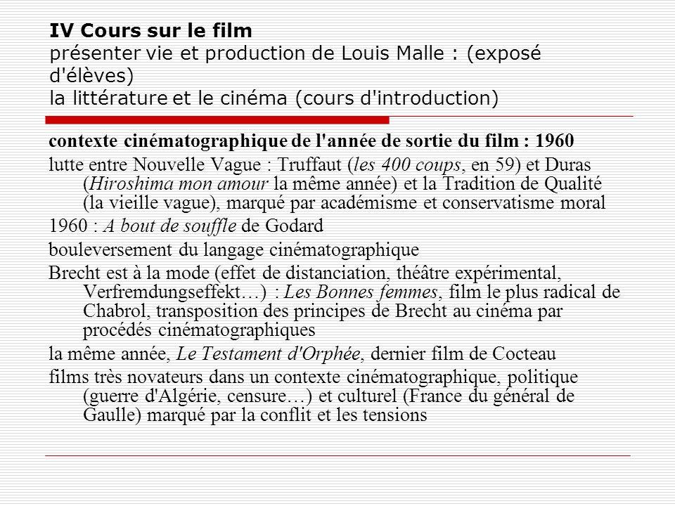 contexte cinématographique de l année de sortie du film : 1960