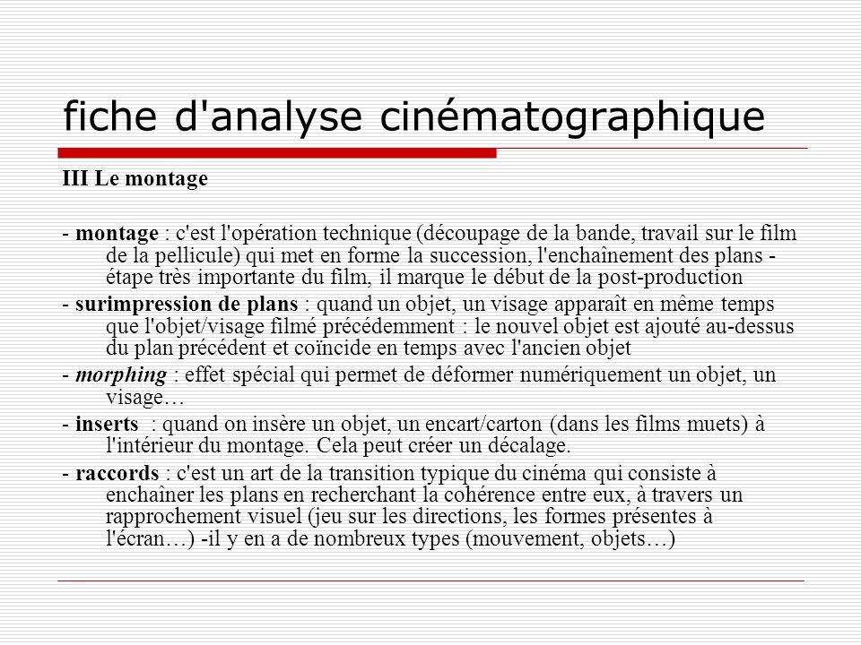 fiche d analyse cinématographique