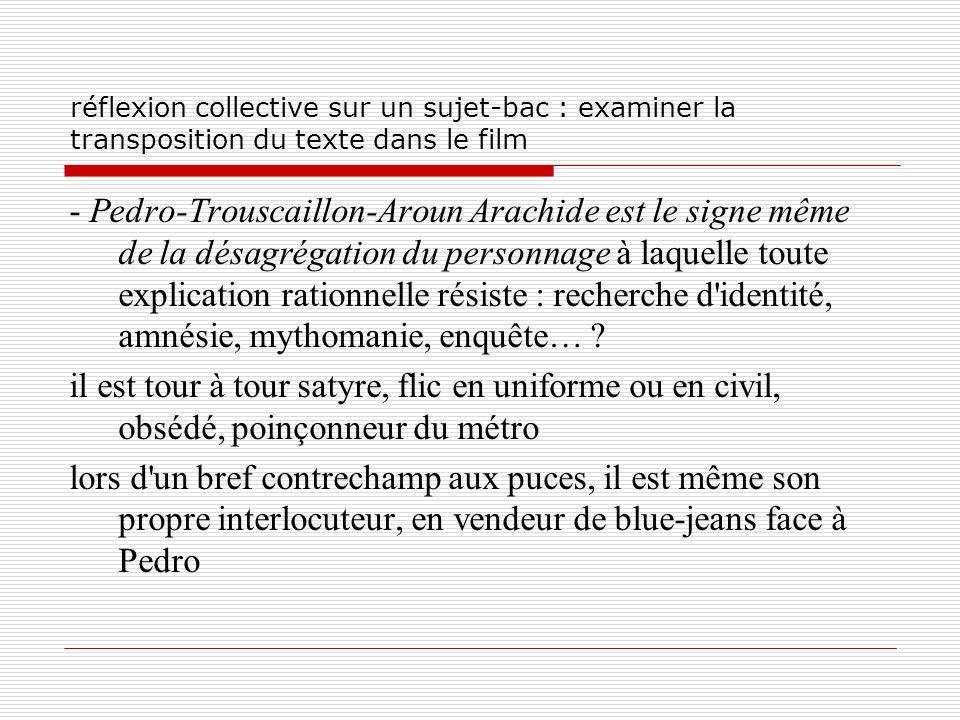 réflexion collective sur un sujet-bac : examiner la transposition du texte dans le film