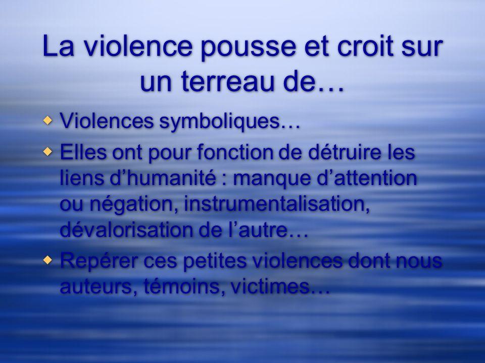 La violence pousse et croit sur un terreau de…
