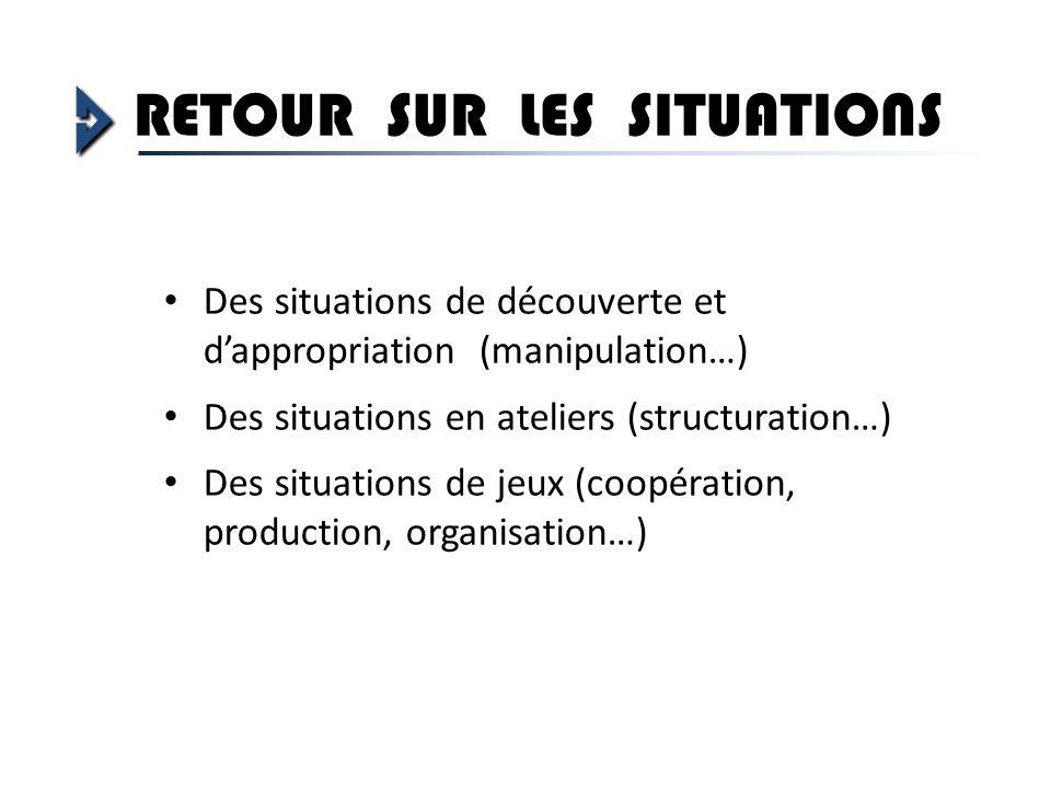 RETOUR SUR LES SITUATIONS