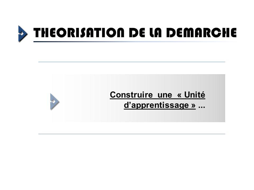 THEORISATION DE LA DEMARCHE