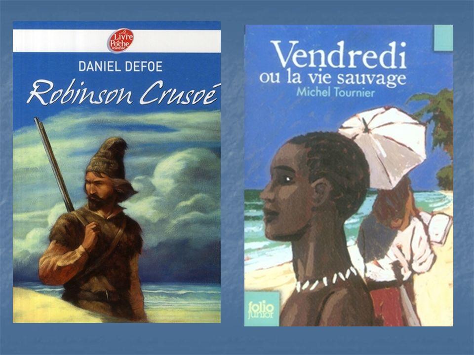 Michel Tournier, après avoir écrit une version de Robinson pour adultes : « Vendredi ou les limbes du Pacifique », donne une nouvelle version pour les enfants : « Vendredi ou la vie sauvage ».