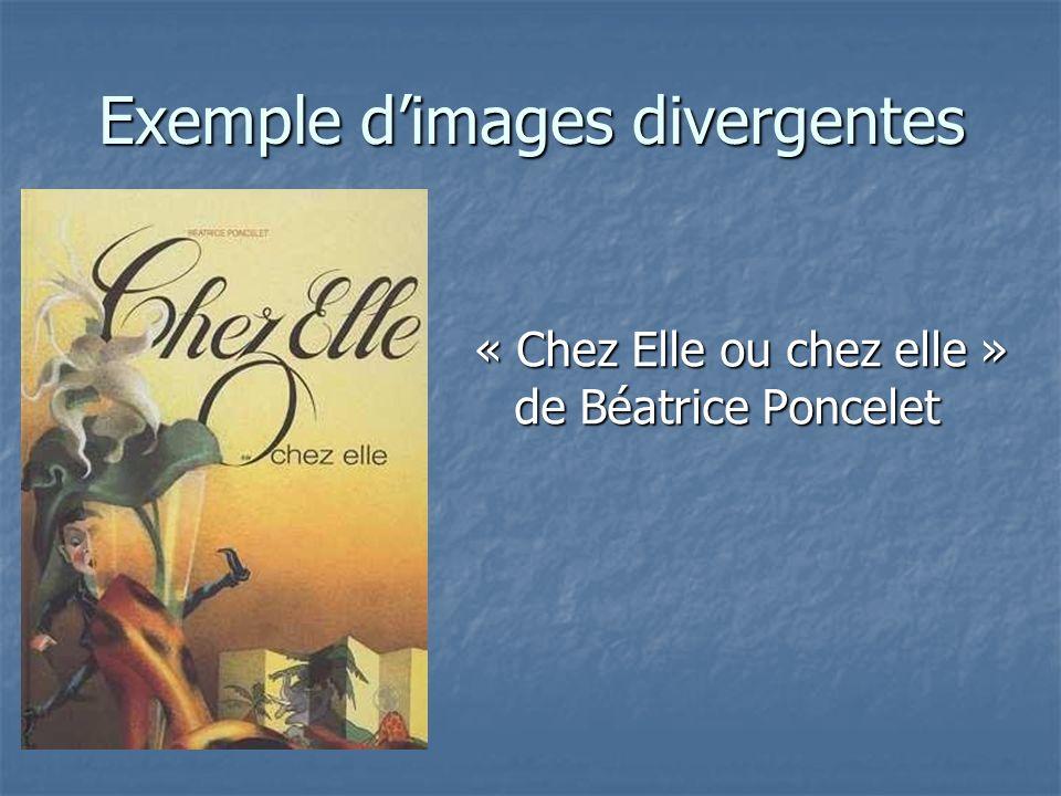 Exemple d'images divergentes