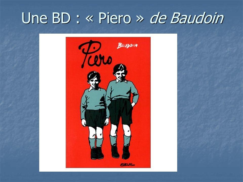 Une BD : « Piero » de Baudoin