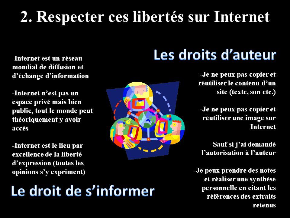 2. Respecter ces libertés sur Internet