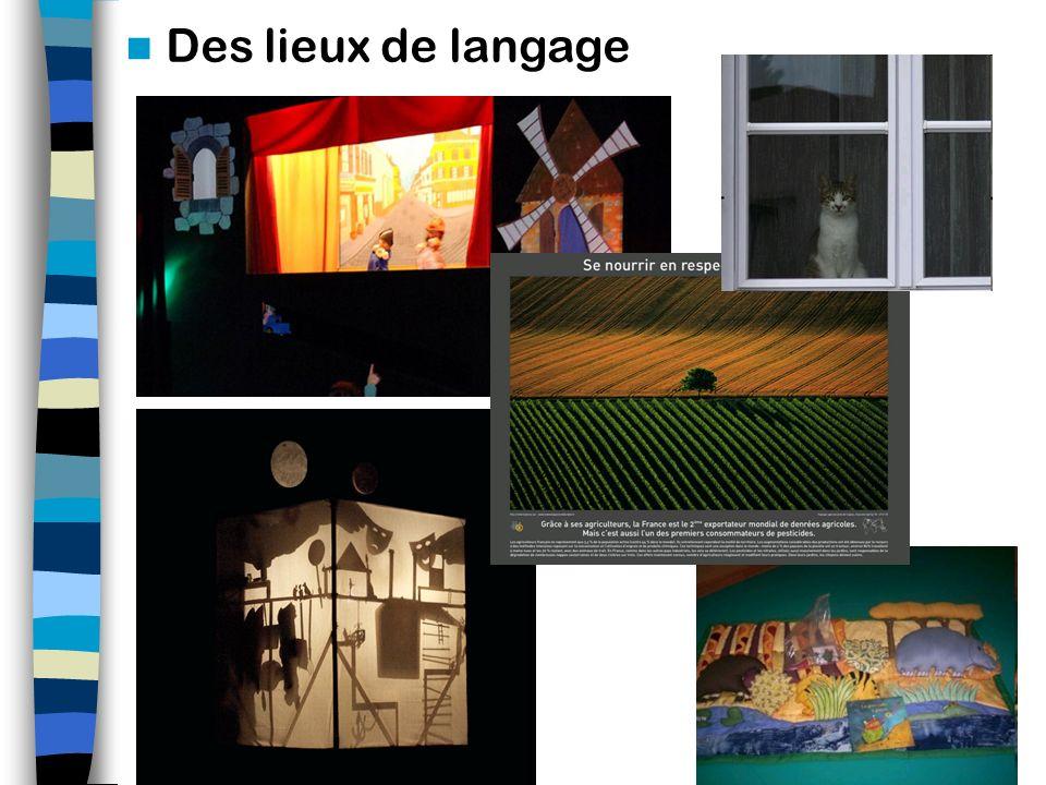 Des lieux de langage