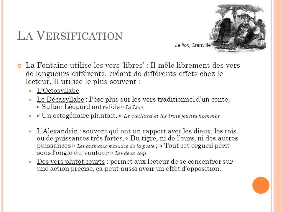 La Versification Le lion, Granville.
