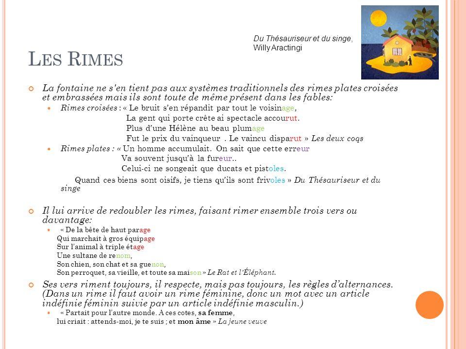 Les Rimes Du Thésauriseur et du singe, Willy Aractingi.