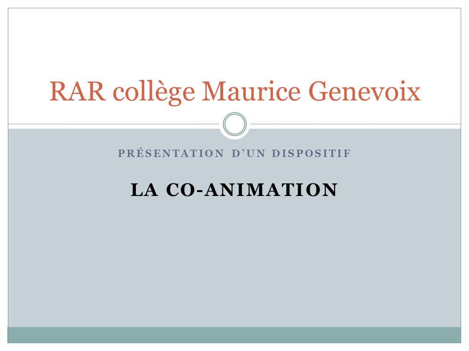 RAR collège Maurice Genevoix
