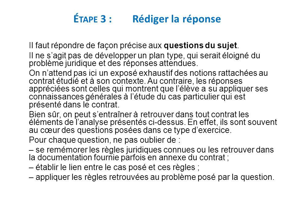 Étape 3 : Rédiger la réponse