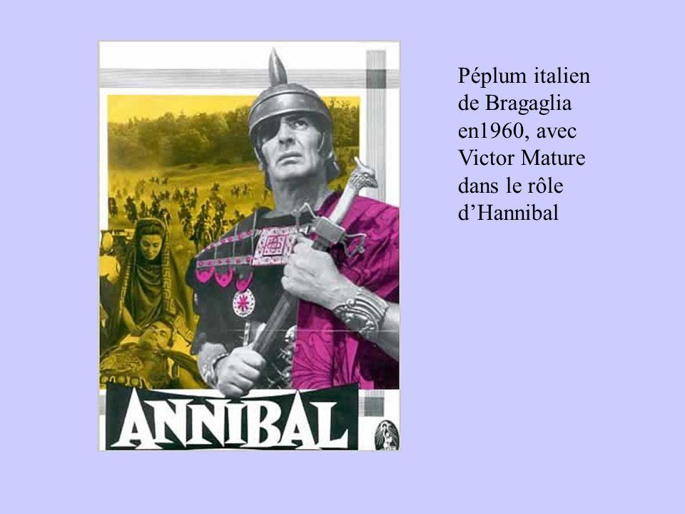 Péplum italien de Bragaglia en1960, avec Victor Mature dans le rôle d'Hannibal