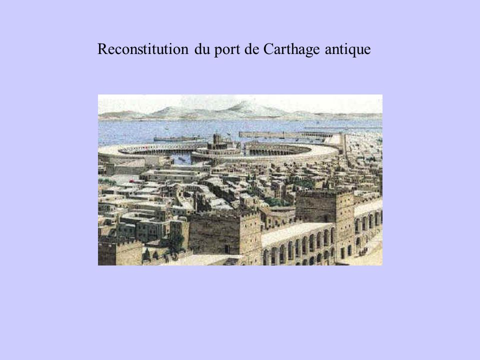 Reconstitution du port de Carthage antique