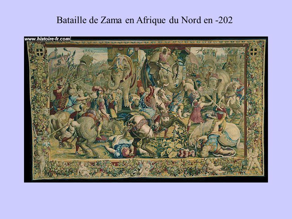 Bataille de Zama en Afrique du Nord en -202